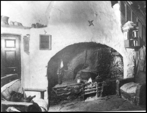 Typical kitchen of an Irish cottage