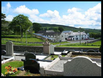 Cloghskelt village from the graveyard