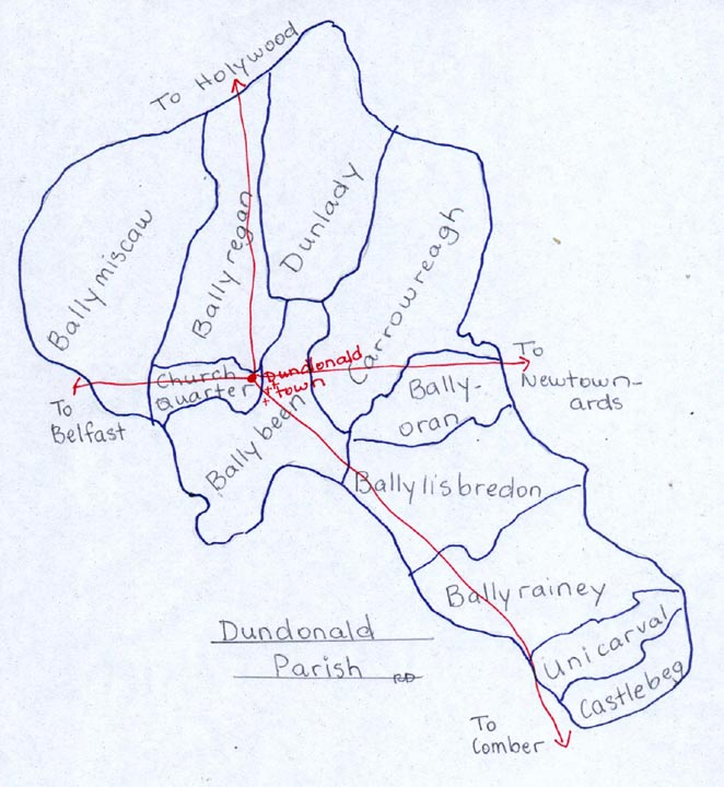 Townlands in Dundonald Parish