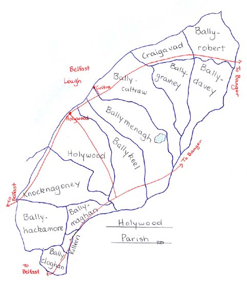 Holywood Parish townlands