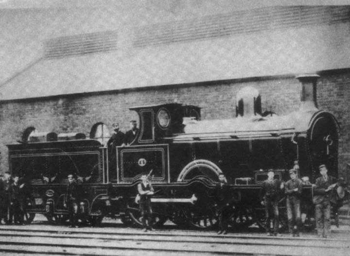 Engine at Newcastle Railway Station 1894
