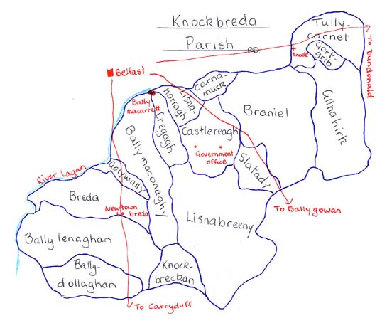 Knockbreda Parish townlands